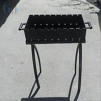 Мангал на 13 шампуров, сталь 4 мм., фото 1