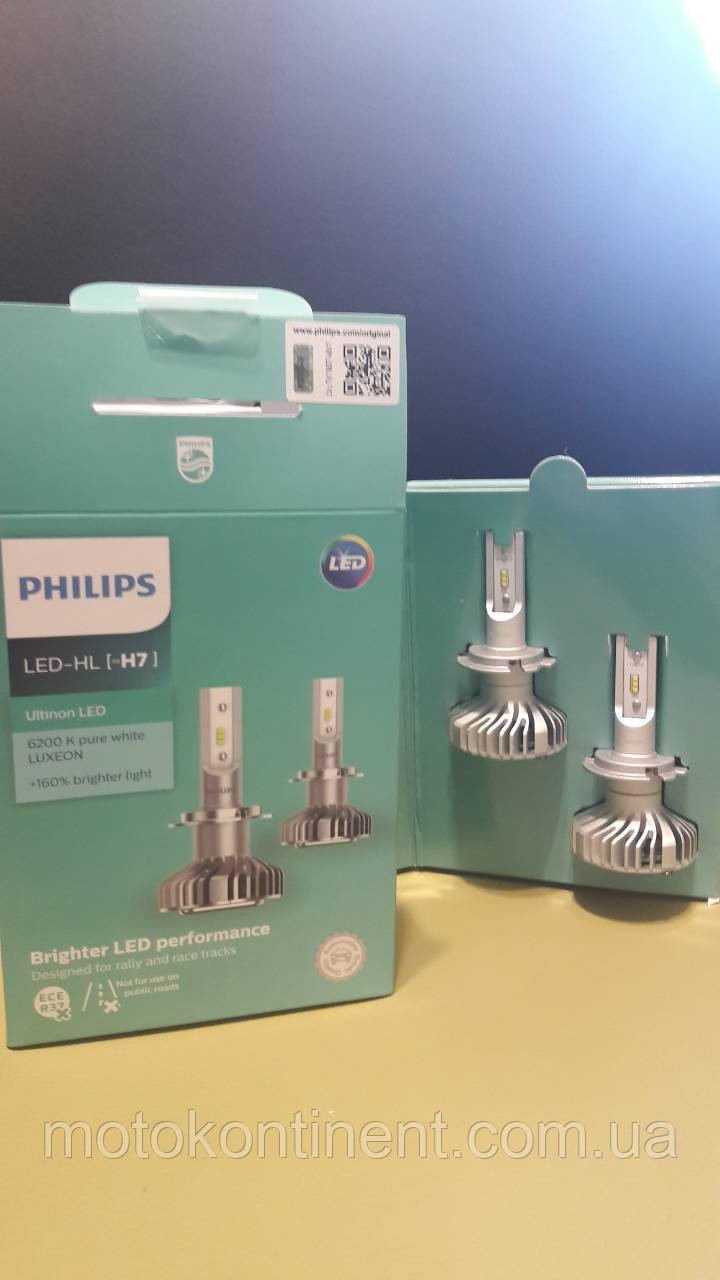 H7 LED для фар на ближний/дальний Philips Ultinon LED H7 НА 160% БОЛЬШЕ СВЕТА НА ДОРОГЕ 11972ULWX2