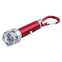 Брелок на ключи jwb-013 / 011-7l, светодиодный фонарик 6+1rgb, разноцветный луч, питание 3*lr44, упаковка