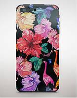 Накладка пластиковая Florence Bloom Blackview A7 flamingo flowers