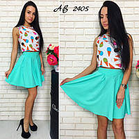 Молодежные женские платья, костюмы, юбки
