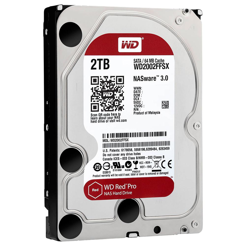 Жесткий диск 2 Тб Western Digital Red Pro, SATA3, 64Mb, 7200 rpm (WD20