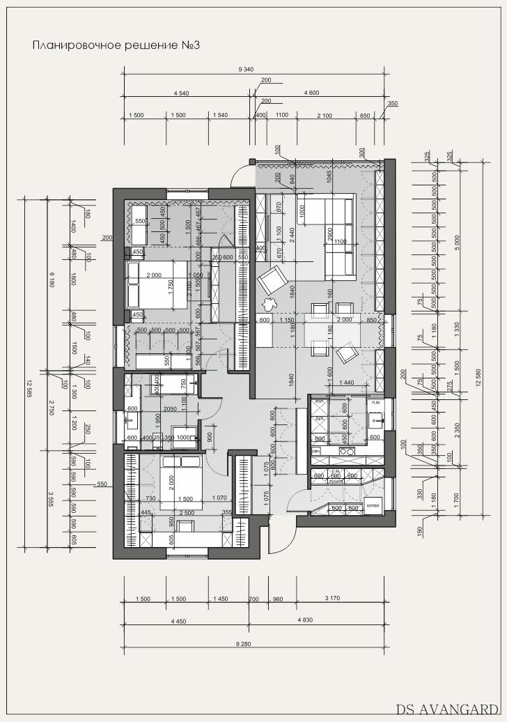 Планировочное решение дома, квартиры