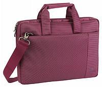 Женская сумка для ноутбука riva case 8221 purple диагональ 13,3