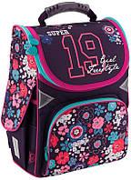 Каркасный школьный рюкзак GoPack 34х26х13 см 11 л для девочек разноцветный (GO18-5001S-10)
