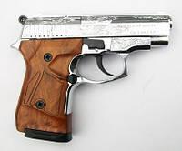 Пистолет стартовый газо-шумовой Stalker-914s (хромированный с гравировкой)