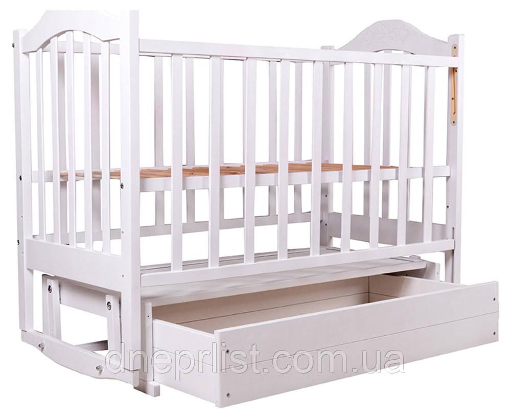 Ліжко Babyroom Діна D301 маятник, ящик біла