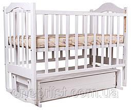 Кровать Babyroom Дина D301 маятник, ящик  белая, фото 2