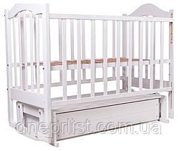 Кровать Babyroom Дина D301 маятник, ящик  белая, фото 3