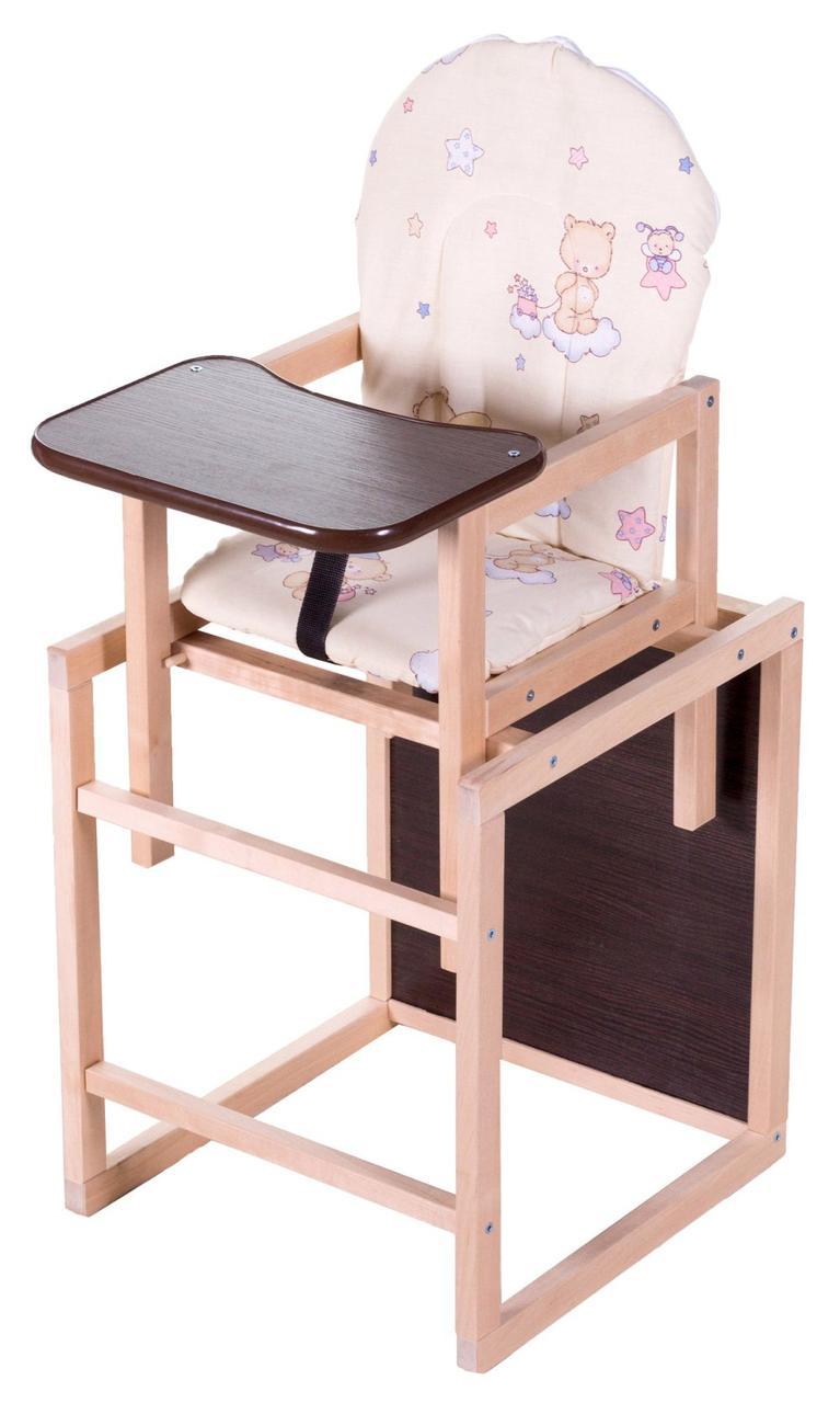 Стульчик- трансформер Babyroom Карапуз-100 eko МДФ столешница  бежевый (мишка, пчелка, звезда)