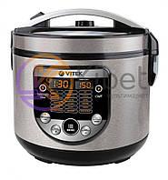 Мультиварка Vitek VT-4272 BK Silver, 900W, 5 л, 17 автоматических программ, часы, смотровое окно, регулировка температуры, антипригарное покрытие
