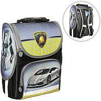Ранець (рюкзак) - короб ортопедический для мальчика - Машинка (Lamborghini), размер Smile 988315