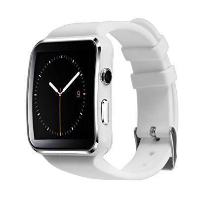 Смарт часы Smart Watch Phone X6 белые под Сим карту! Супер цена!