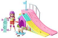 Игровой набор Barbie Club Челси с собачкой на скейте