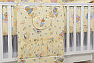 """Постель для новорожденных """"Мишки на подушках"""" с голубыми звёздочками ( 8 эл.) №117, фото 3"""