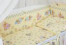 """Постель для новорожденных """"Мишки на подушках"""" с голубыми звёздочками ( 8 эл.) №117, фото 4"""