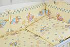 """Постель для новорожденных """"Мишки на подушках"""" с голубыми звёздочками ( 8 эл.) №117, фото 5"""