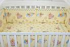 """Постель для новорожденных """"Мишки на подушках"""" с голубыми звёздочками ( 8 эл.) №117, фото 6"""
