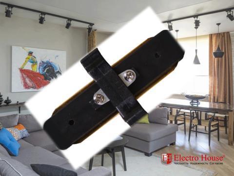 Коннектор прямой черный 180 градусов Electro House