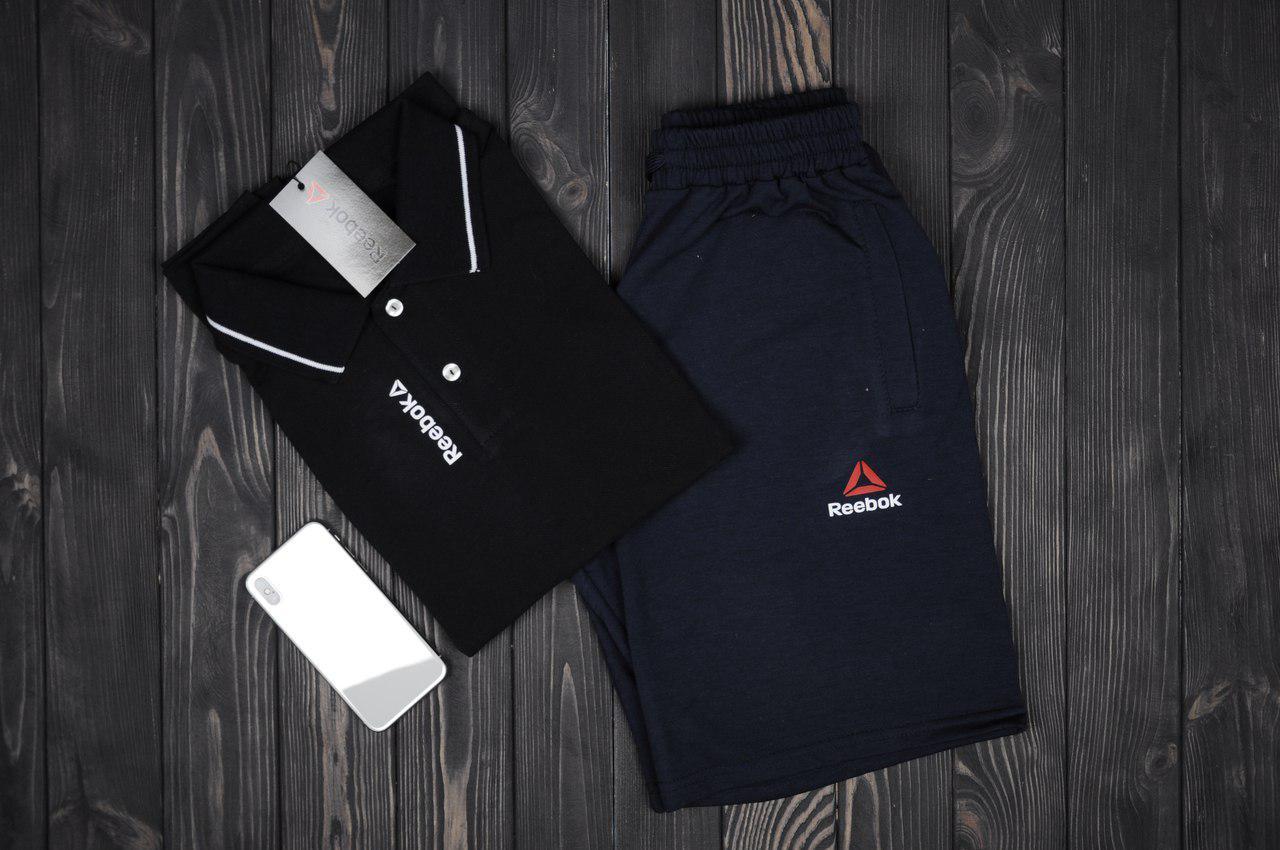 8d04d78fe2ec Футболка и шорты Reebok, мужские костюм, черный  продажа, цена в ...