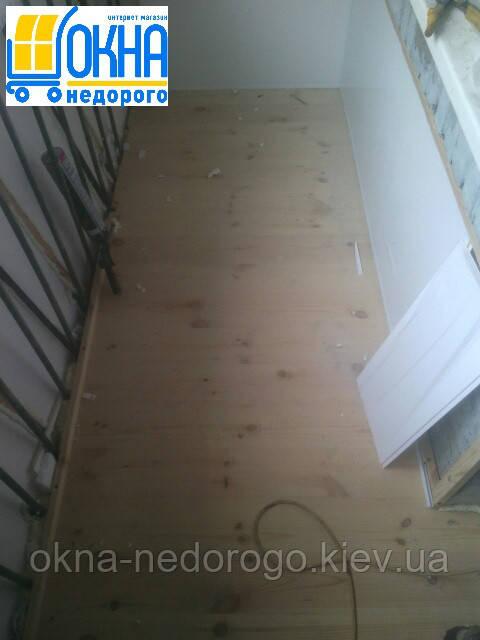 Балкон под ключ Бортничи - устройство чернового пола