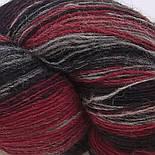 Artistic yarn 8/1, Grey-red (серо-красный), фото 2