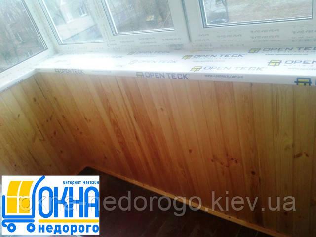 Балкон под ключ Гостомель - обшивка балкона девером