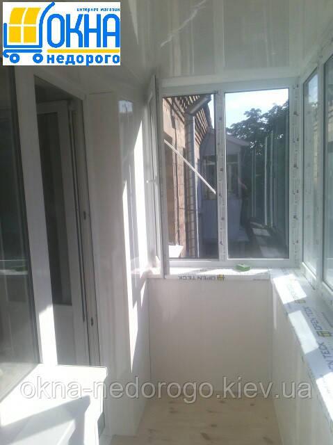 Балкон под ключ Гостомель от компании Окна Недорого