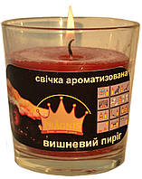 Свеча в стакане Арома вишневый пирог GA68-CHP, ТМ Pragnis