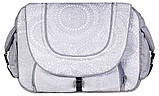 Коляска 2 в 1 Adamex Erika Len 373W светло-серый-св.серый рисунок кружево, фото 6