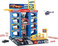 Детский многоуровневый гараж с машинками 92126