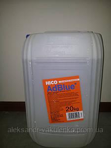 Реагент AdBlue Borg-Hico, каталитическая добавка (мочевина), 20 кг, Польша