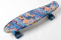 Скейт Пенни Борд Print, Penny Board Original 22 c Рисунком Пирамида