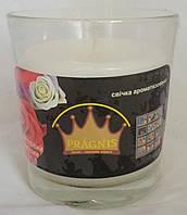 Свеча в стакане Арома цветочный магазин GA68-FLS, ТМ Pragnis