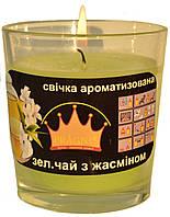 Свеча в стакане Арома зеленый чай GA68-GRT, ТМ Pragnis