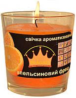 Свеча в стакане Арома апельсиновый фреш GA68-ORF, ТМ Pragnis