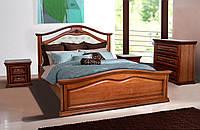 Кровать двуспальная Маргарита 1,6 м ольха массив