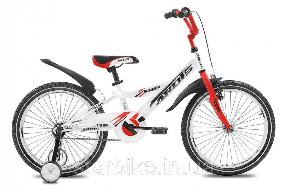Велосипед ARDIS20 SUMMER BMX бело-красный