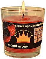 Свеча в стакане Арома красные ягоды GA68-RBR, ТМ Pragnis