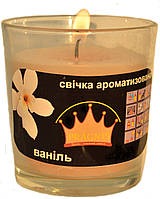 Свеча в стакане Арома ваниль GA68-VAN, ТМ Pragnis