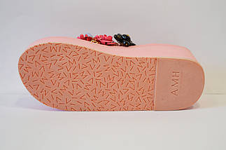Розовые вьетнамки с цветами Sopra 10011, фото 3