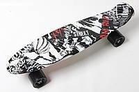 Скейт Пенни Борд Print, Penny Board Original 22 c Рисунком Принт Street