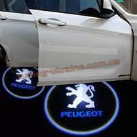 Проекция логотипа автомобиля Peugeot