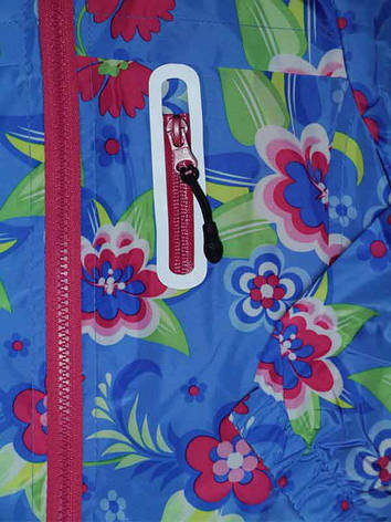 Ветровка для девочки 5 лет на флисе голубая, фото 2