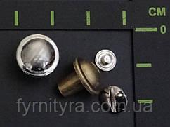 Болт на ремень 003 антик, никель
