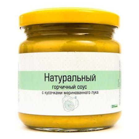 Натуральный горчичный соус с маринованным луком 210 г