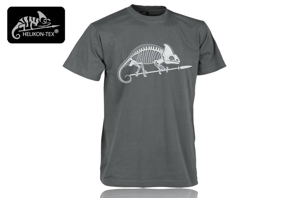 Футболка T-shirt Helikon 'Szkielet kameleona' Shadow Grey (TS-SKC-CO-35) L (TS-SKC-CO-35 L), Польша