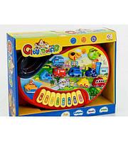 Пианино детское игрушечное, обучающ (транспорт, ноты) (6011В)