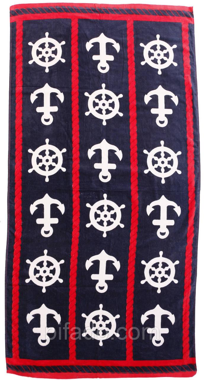 Пляжное полотенце (велюр-махра) 70х140. Код 2210