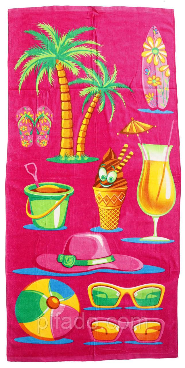 Пляжное полотенце (велюр-махра) 70х140